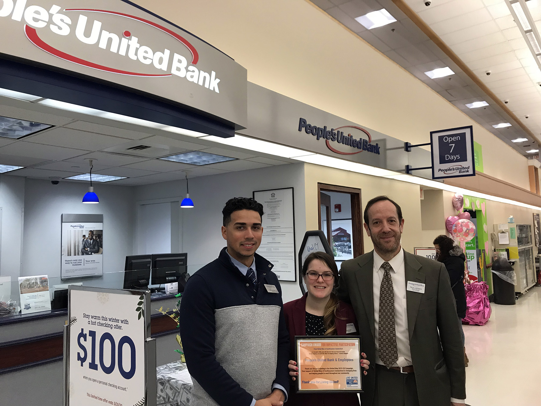 Innovation Award - Stop and Shop, People's Bank, and Employees